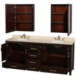 80 Inch Bathroom Vanity With Shelves Cabinets And Drawers