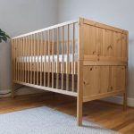 A sample of wooden baby cribs designed by IKEA