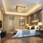 Awesome Luxury Ceiling Bedroom Designs With Crystal Lights