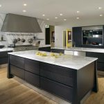 Awesome Modern Black White Island Kitchen Units