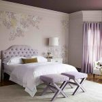 Awesome Wallpaper Bedroom With Purple Theme And Comfy Chairs For Bedroom