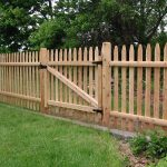 Backyard Fencing Design Ideas With Wooden Cutom Shape And Door