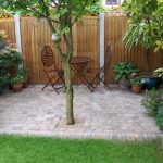 Backyard Garden Design Ideas For Small Yard With Patio Furniture And Fence
