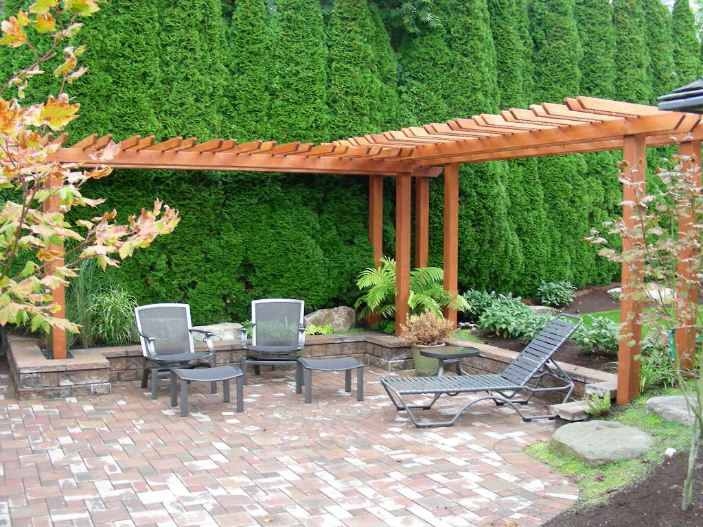 Backyard Garden Design Ideas With Furniture And Beams Frame Backyard Garden  Design Ideas   Landscaping Design Part 81