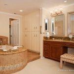 Bathroom Remodel Ideas For Small Bathroom With Big Vanitiy And Unique Tub
