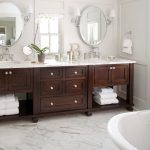 Bathroom Remodel Ideas With Double Vanities Sink And Mirror