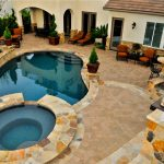 Beautiful Stone Style Of Pool Design For Small Yards