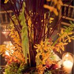 Beautiful Wedding Decoration Of Flower Fall Center Pieces