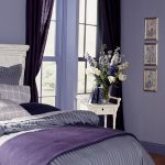 Bedroom Best Color Wall Paint With Purple On Bed And Curtains