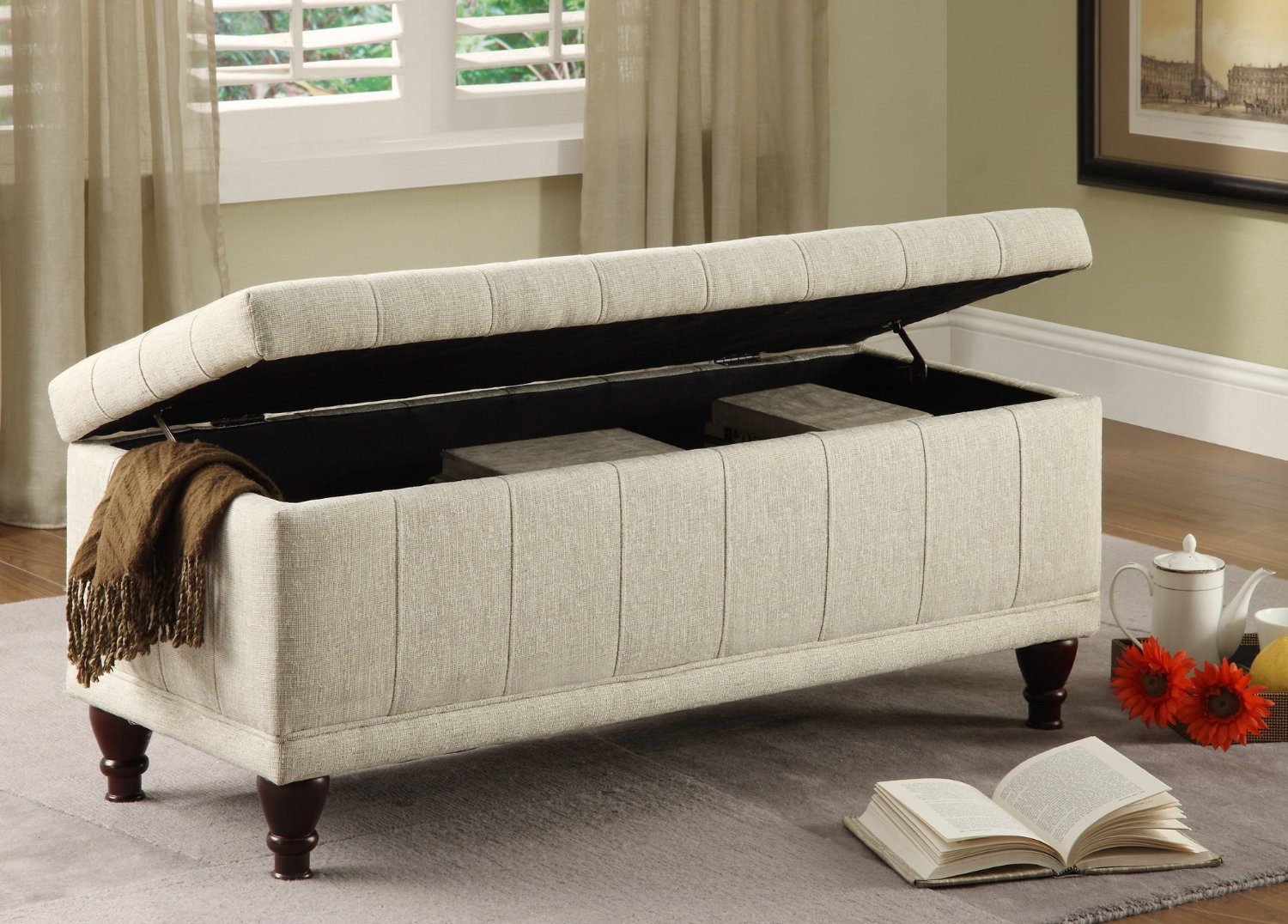 bedroom storage furniture. Big White Bench Of Bedroom With Grey Carpet Benches with Storage Ideas  HomesFeed