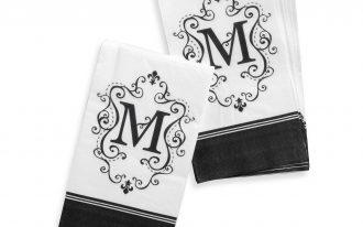 Black And White Color For Monogrammed Towel Design