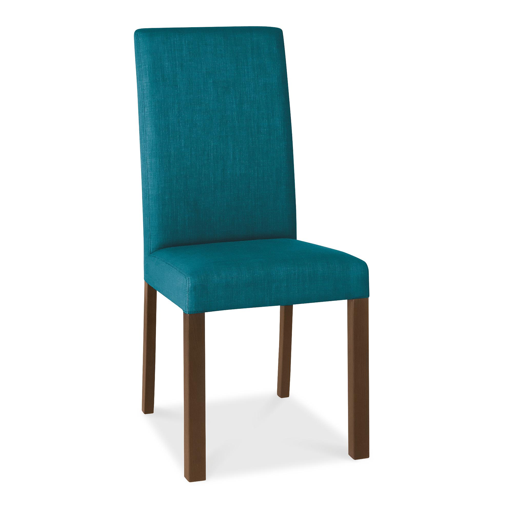 Blue upholstered dining chairs homesfeed for Breakfast room chairs