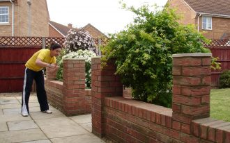 Brick Wall Fence Panels