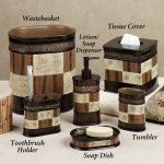 Brown Classic Bath Accessories Sets