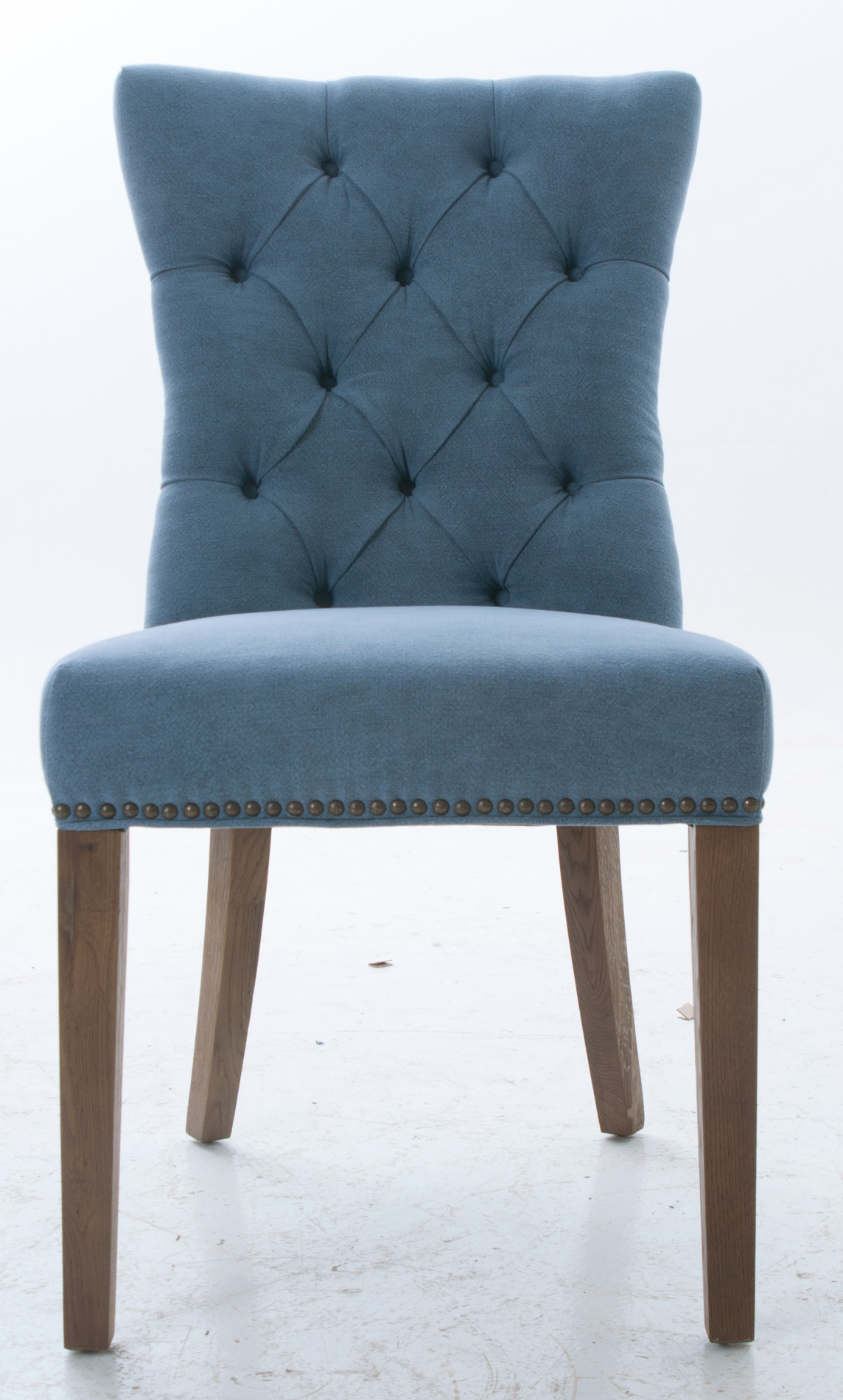 Blue upholstered dining chairs homesfeed for Dining room upholstered chairs