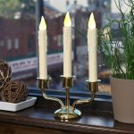 Candle Lights For Windows With Triple Electric Candles