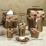 Ceramic Brown Bath Accessories Sets