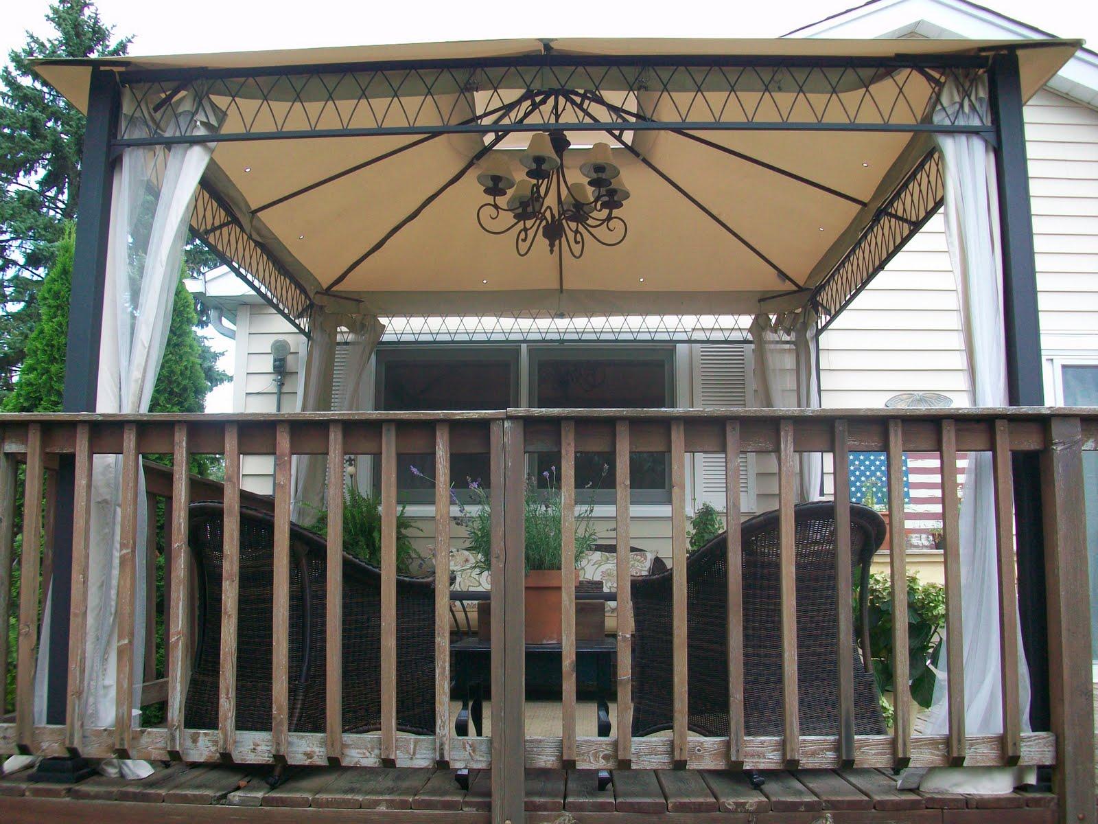 Outdoor gazebo lighting ideas homesfeed for 12x12 dining room