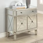 Cheap Mirrored Console Cabinet WIth Elegant Style