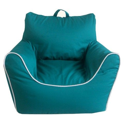 Circo Bean Bag Chair With Piping Upholstered In