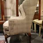 Classic Design Of Upholstered Wingback Chair