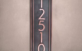 Classic Style Of Vertical Address Plaques