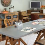 Complete Desk And Kids Work Table With Grey And Wooden Color