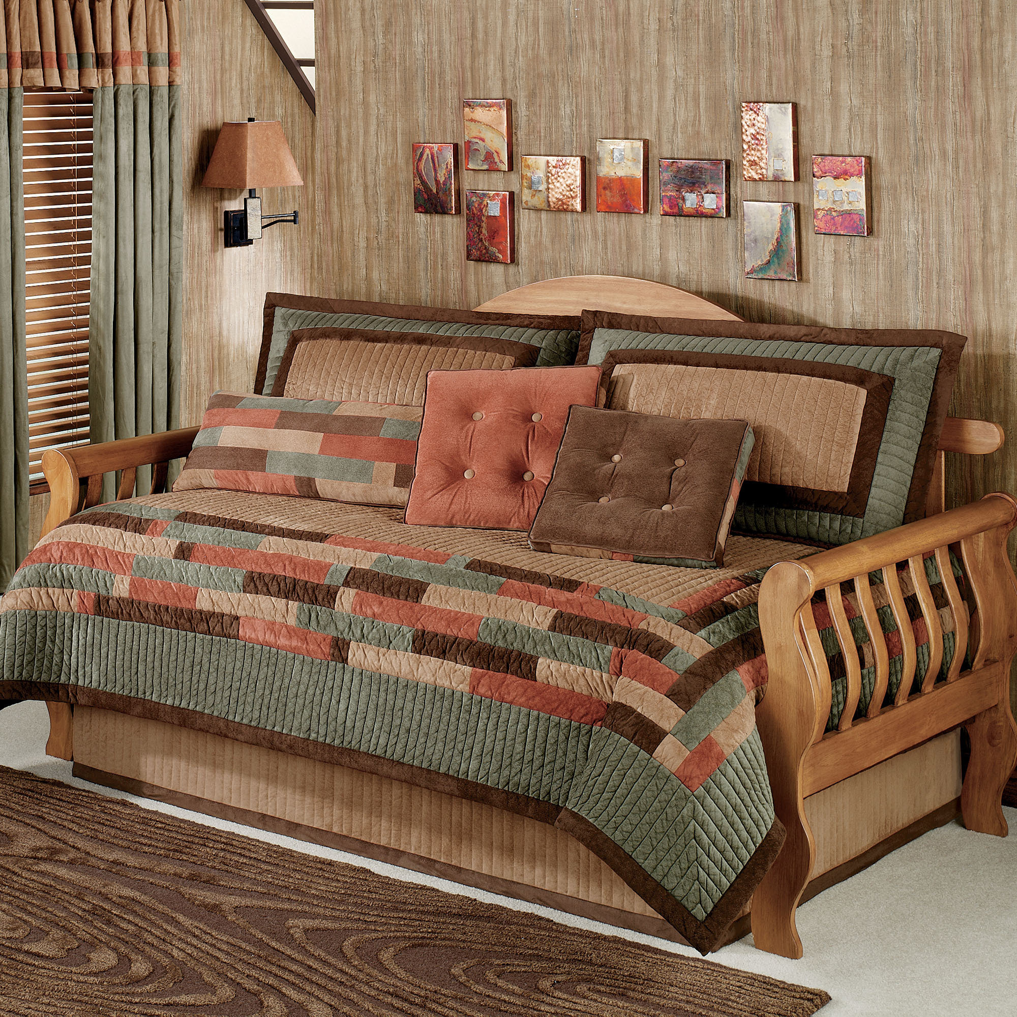 Contemporary Style Of Day Bed Covers With Cool Rug