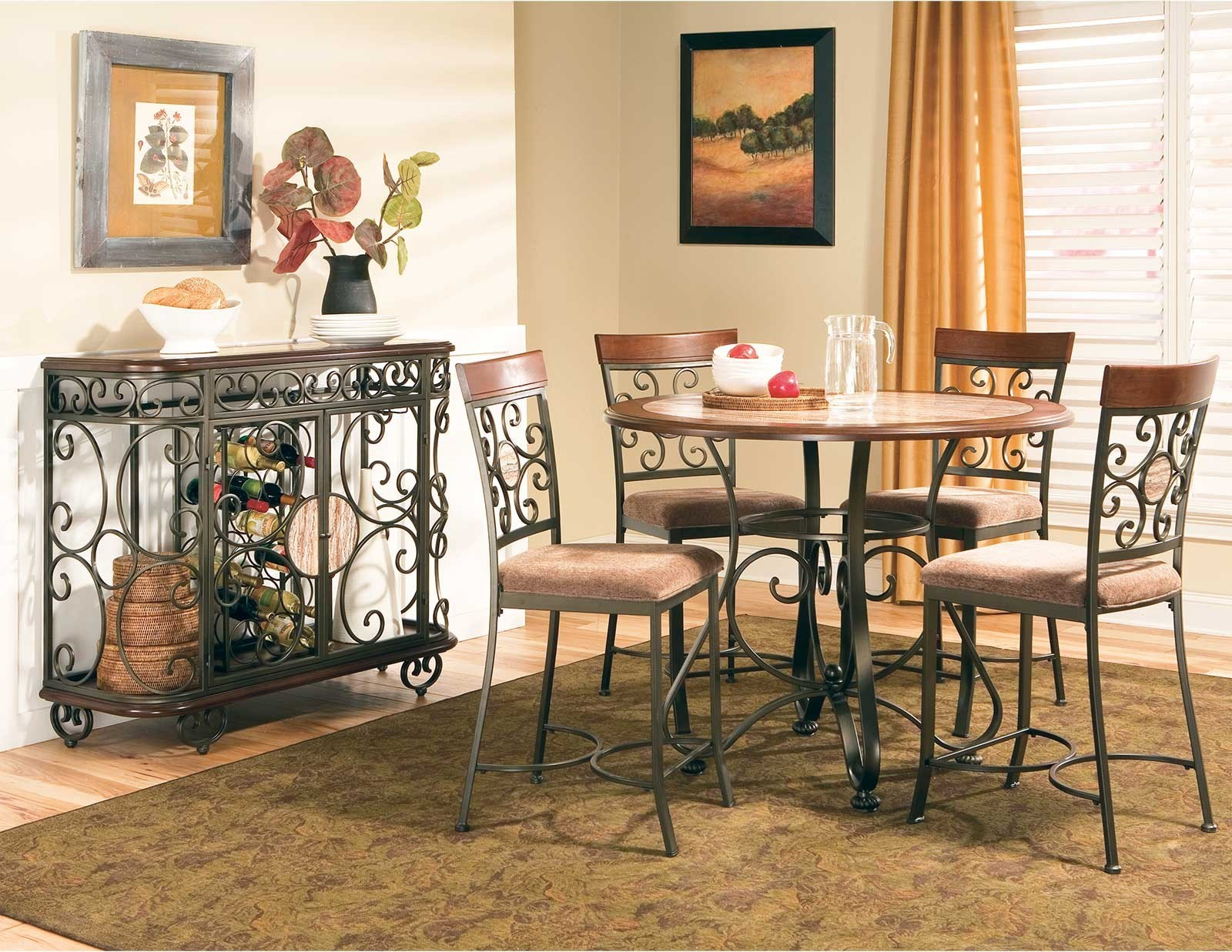 Counter height dinette sets homesfeed for Dinette sets with bench seating