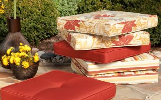 Cool Floral Sunbrella Replacement Cushions