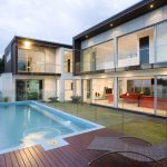 Cool Swimming Pool Design With Modern House Build My Dream House