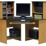 Corner Computer Desk With Two Sides Of Racks