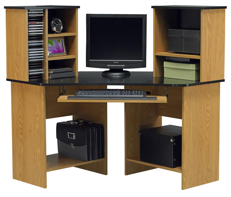 Corner Computer Desk: Corner Desk With Shelves Design