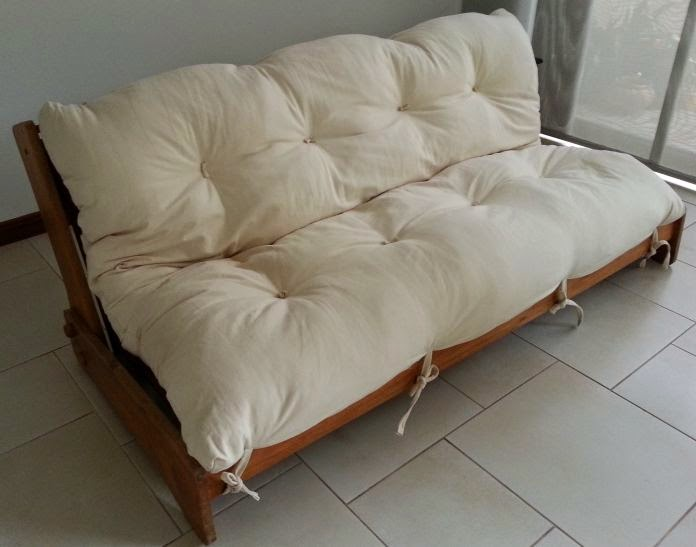 Cozy White Futon For Chair