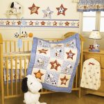 Crib Baby Theme With White And BLue Color Bedding Sets For Cribs
