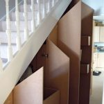 Cupboard Under the Stairs With Wooden Style