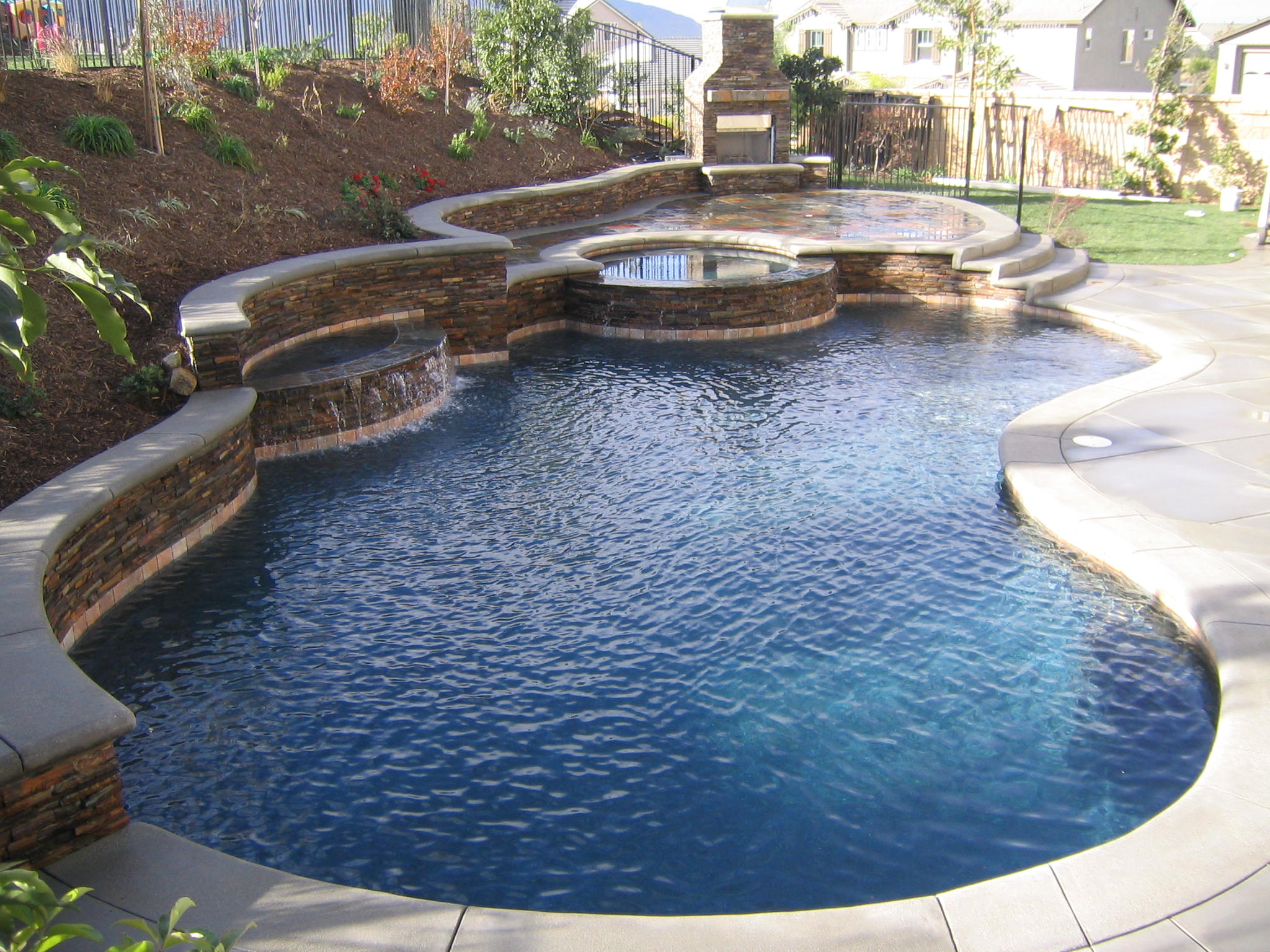 backyard pool designs for small yards. Modren Backyard Custom Shape Of Pool Design For Small Yards On Backyard Designs