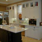 Custom White Cabinet And White Island Kitchen Units