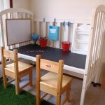 DIY Crib To Desk For Kids Work Table With Chairs