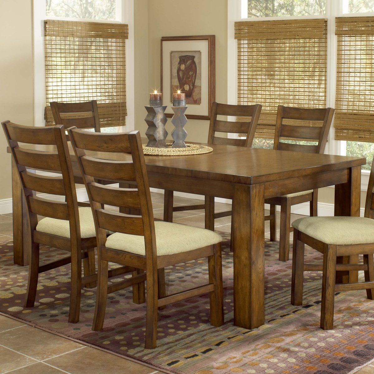 Real wood dining table review homesfeed for Large dark wood dining table