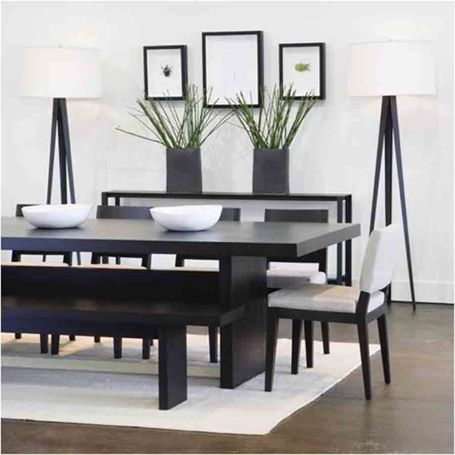 Dark Wooden With Good Looking Of Minimalist Dining Set Design