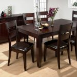 Dark Wooden With Six Chairs And Cabinet Of Dining Room Sets Target