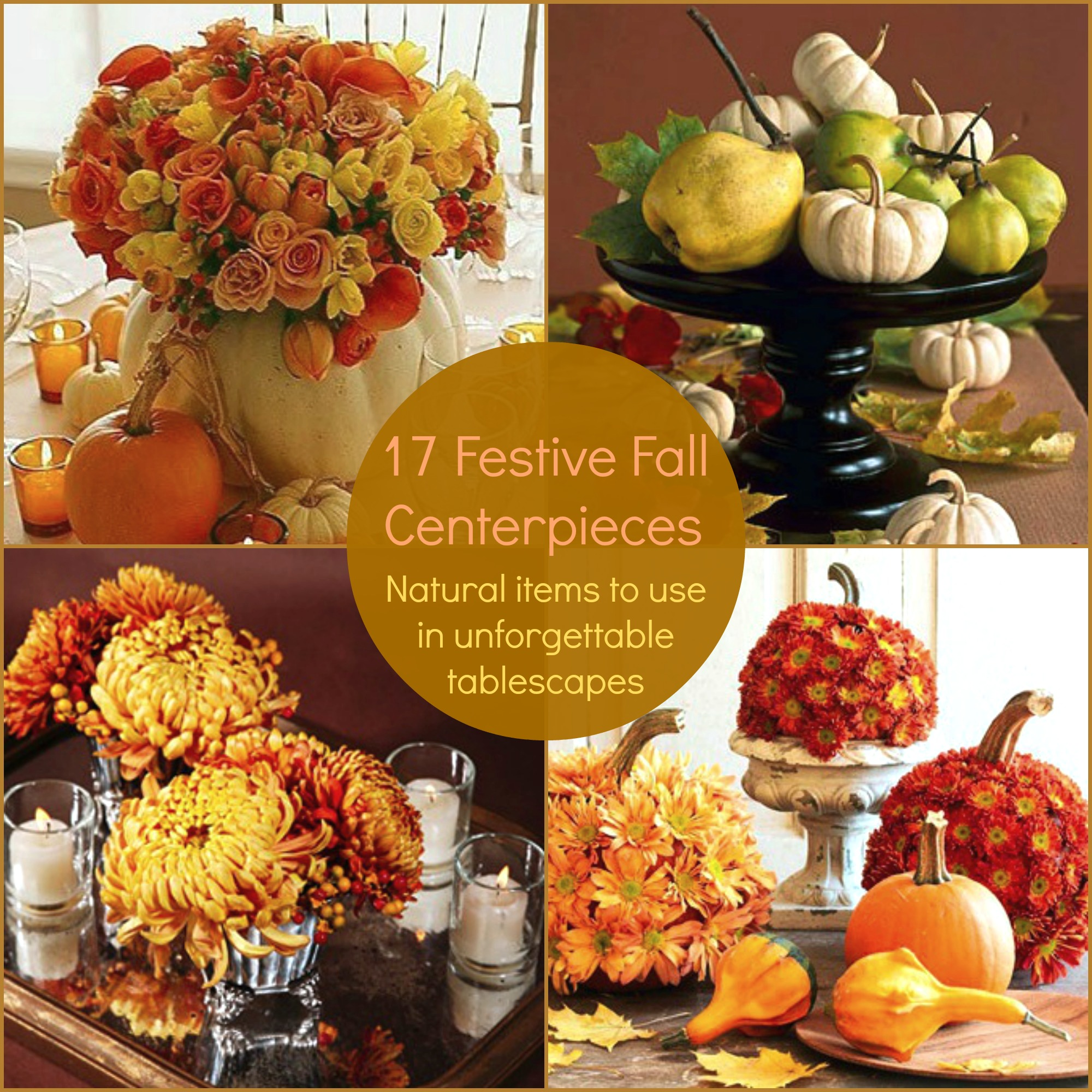 Fall Center Pieces Ideas