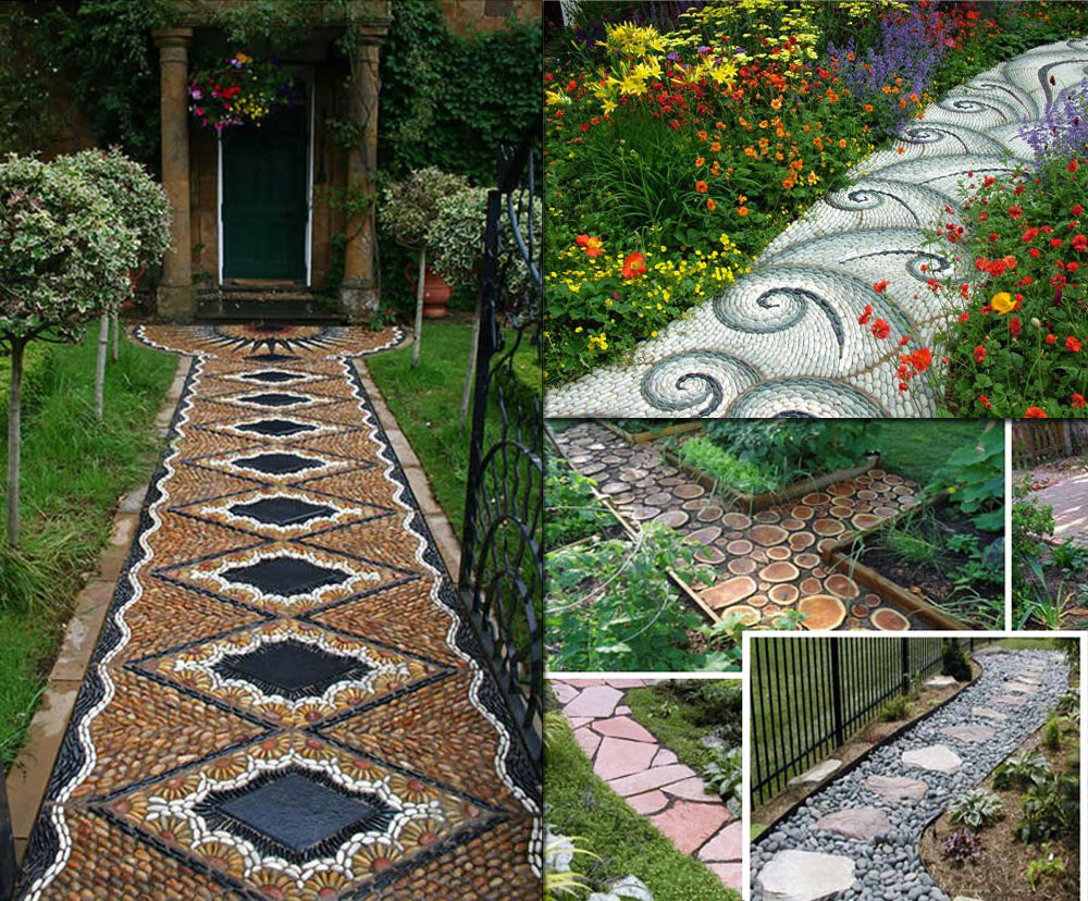 Decorative Garden Footpath Designs & Garden Pathways Designs | HomesFeed