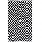 Decorative Pattern Of Indoor Outdoor Carpet With White And Black Color Design