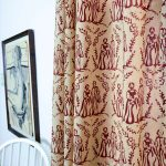 Decorative Pattern Of Red Toile Curtains