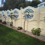 Decorative Wall Fence Panels With Plants