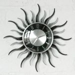Decorative sunrise walll clock idea