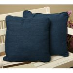 Denim-Square-Throw-Pillows-Set-of-2-Soft 100 percent polyester material-With self-corded edges and a stitch-closed cover-