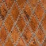 Diamond cut shaped Spanish tile flooring